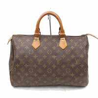 Authentic Louis Vuitton Hand Bag Speedy 35 M41524 Browns Monogram 113471