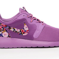 Nike Roshe Run Hyp Purple with Custom Pink Purple Floral Print