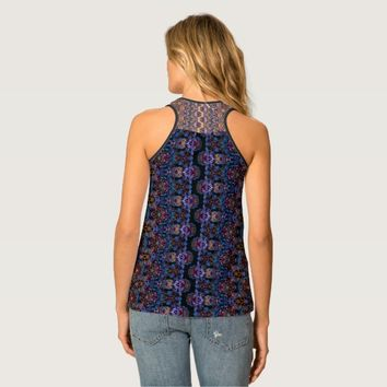 Boho graceful lace pattern in the modern-style tank top