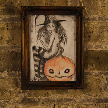 Witchy Home Decor_Witchy Art Print_Horror Decor__Halloween Art_Dark Art_Gothic Home Decor_Pagan Witch Art_Wall Art