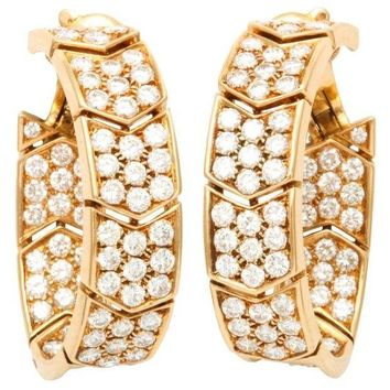 DCCKG2C Cartier Yellow Gold Diamonds Hoop Earrings