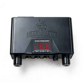 Dragonhawk Lcd Dual Tattoo Machine Gun Power Supply