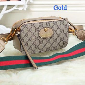 Gucci Tiger Head Camera Bag Women Waist Bag Shoulder Bag Full Color B-WMXB-PFSH Gold