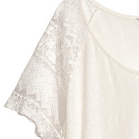 H&M+ Linen Top - from H&M