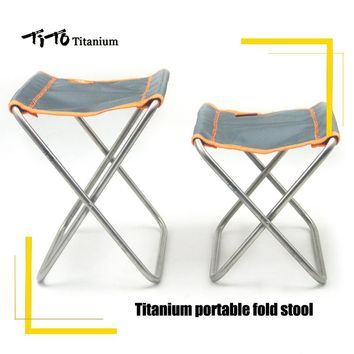 TiTo Titanium Folding Chair Camping Chair Outdoor For Picnic And Hiking Portable Folding Chair Stool ultra light