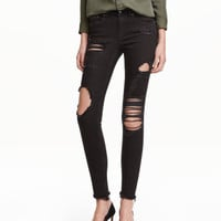 H&M Skinny Ankle Trashed Jeans $39.99