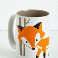 ModCloth Woodland Creature Walk on the Wily Side Mug
