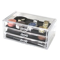 Vencer Standard-size Acrylic Jewelry & Cosmetic/makeup Organizer Set (3 Drawers)