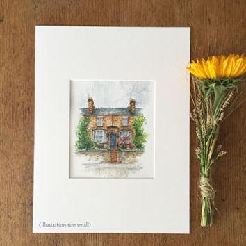 Personalised House Portrait Illustration