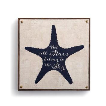 Beyond the Shore - Starfish Canvas Wall Art - 10""