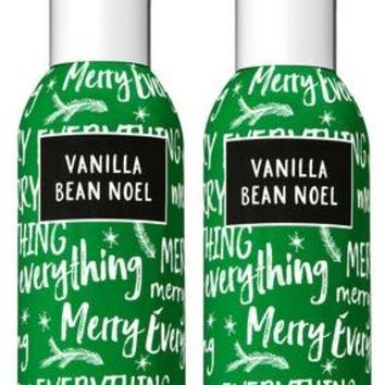 2 Bath & Body Works VANILLA BEAN NOEL Room Spray 1.5 oz