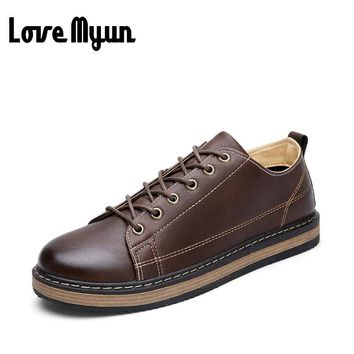 2017 brand new spring boys lace up leather shoes Student shoes young boys brogue shoes carved pu leather mens Flat shoes AC-22