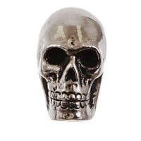 Skull Cast Metal Cabinet Knob in Antique Silver