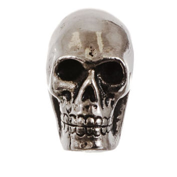 Skull Cast Metal Cabinet Knob in Antique Silver - PLASTICLAND