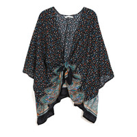 Floral Knotted Kimono