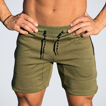 Men Sporting Beaching Shorts Trousers Cotton Bodybuilding Sweatpants Fitness Short Jogger Casual Gyms Men