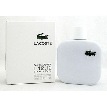 Lacoste L.12.12 Blanc Cologne by Lacoste 3.3 oz EDT Spray for Men
