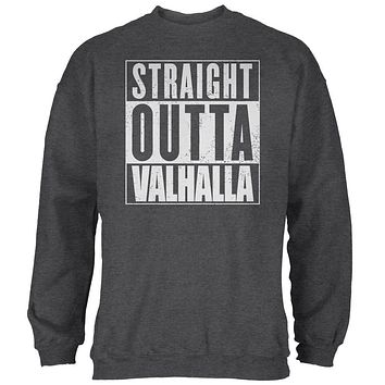 Straight Outta Valhalla Viking Valkyrie Mens Sweatshirt