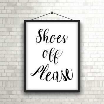Shoes off sign - Take shoes off sign - Take off your shoes - Mudroom sign - Hallway sign - PRINTABLE - Remove the shoes - Entry hall sign