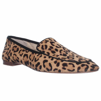 Vince Camuto Eliss Slip-On Loafer Flats, Tan/black, 5.5 US / 35.5 EU