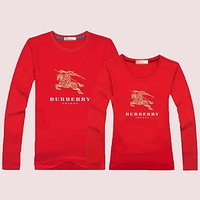 Burberry Women  Men Lover  Casual Long Sleeve Top Sweater Pullover