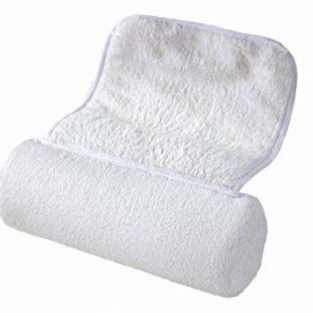 Luxury Bath Pillow for Bathtub w/Ultimate Neck Support, Extreme Comfort, Non-Slip Suction Caps