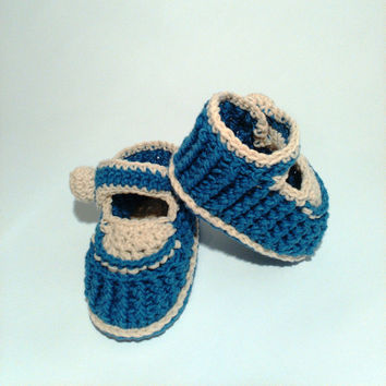 Ribbed crochet baby slippers, baby boy shoes and booties, crochet button balls