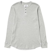 LS Thermal Knit Henley H.Gray