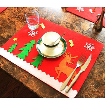 Christmas Table Mats Decoration Holiday Table Placemats