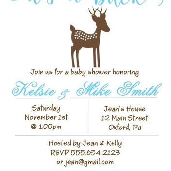 10 Its a Buck Baby Shower Invitations