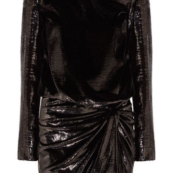 Saint Laurent - Stretch-velvet lamé mini dress