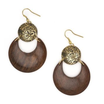 Earth & Fire Lunar Earrings - Fair Trade