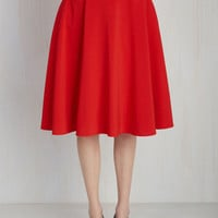 Just This Sway Skirt in Tomato