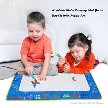 Non-toxic Drawing Board Water Drawing Mat With Magic Pen Board Painting and Writing Doodle for Baby Kids Drawing Toys 80 * 60 CM SM6
