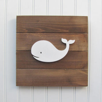 Whale, Nautical, Nursery Wall Decor, Nautical Nursery, Nursery Decor, Nautical Decor, Boys Room, Wall Art, Pallet Board, Whale Sign