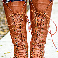 THE KATNISS TAN BOOTS