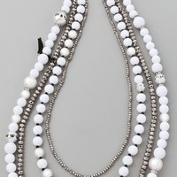 Juicy Couture Pearl & Resin Multi Strand Necklace