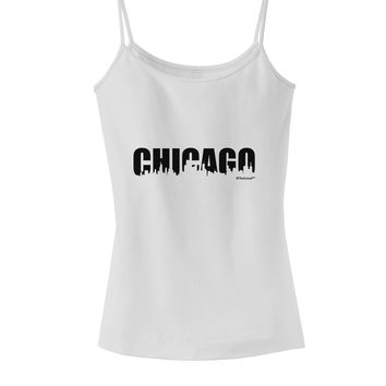 Chicago Skyline Cutout Spaghetti Strap Tank  by TooLoud