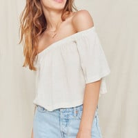 Urban Renewal Remade Gauzy Off-The-Shoulder Top | Urban Outfitters