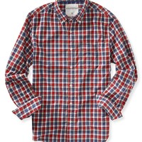 Aeropostale Long Sleeve Plaid Woven Shirt - Red Dare, X-Small