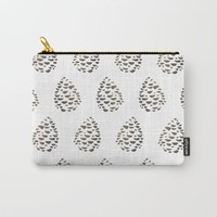 Pinecone pattern Carry-All Pouch by Creative Break