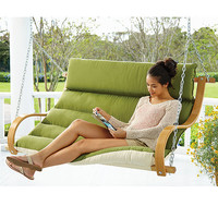Deluxe Cushioned Double Porch Swing