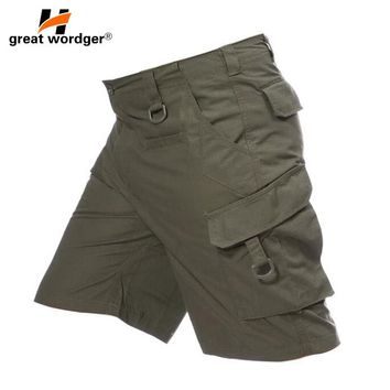 Outdoor tactical camping hiking shorts, wear-proof breathable breeches spring-summer men's military shorts