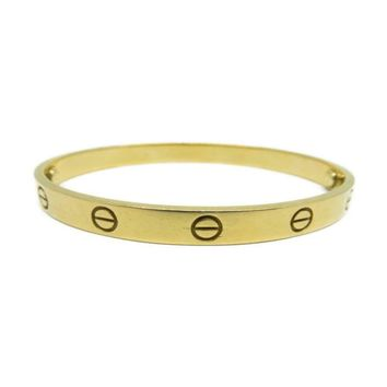 Cartier Love Bracelet Bangle 18K Yellow Gold 5240