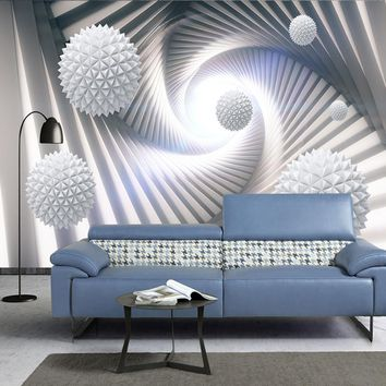 Custom 3D Wall Murals Wallpaper Modern Abstract Stereoscopic Space Circle Ball Living Room TV Background Photo Wall Paper Mural