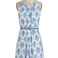 ModCloth Mid-length Sleeveless A-line Fresh Spring Rain Dress in Blue