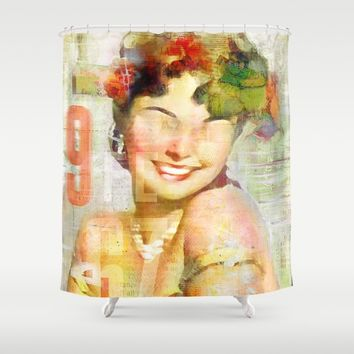 The girl of the 9th floor Shower Curtain by Ganech joe