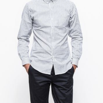 Patrik Ervell Verical Stripe Oxford Shirt