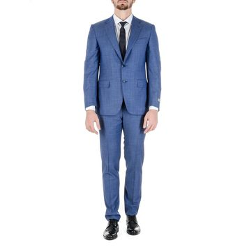Canali Mens Suit Long Sleeves Blue