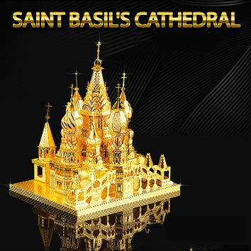 ICONX St Basil Cathedral 3D Metal Puzzle For Adult Stainless Steel DIY Assembly Building Toy Model Educational Kids Toys For Boy